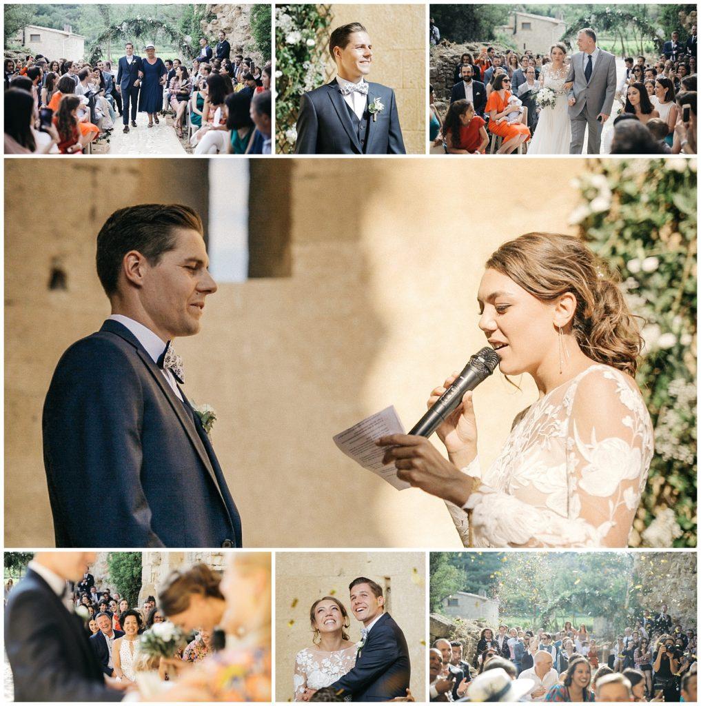 Camille & Gael, cérémonie, captures du film de mariage