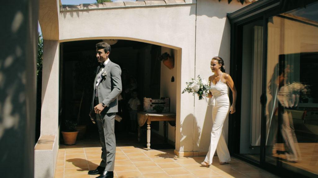 La découverte des 2 mariés